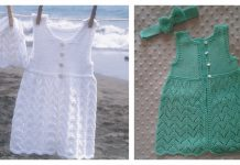 Beach Baby Dress and Hat FREE Knitting Pattern