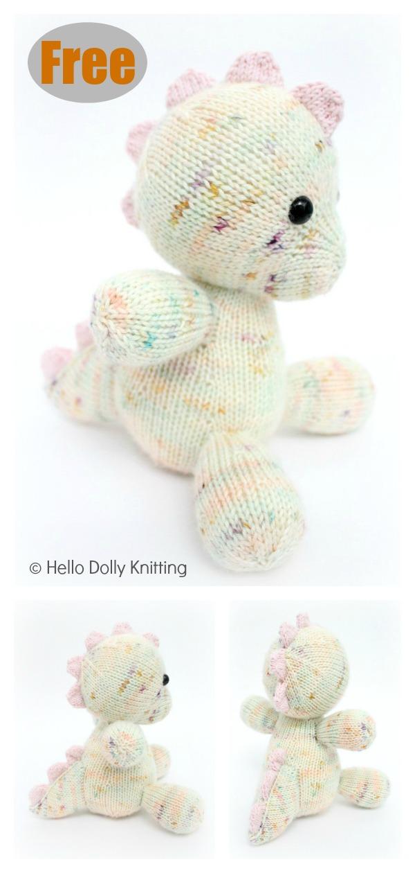 Daisy the Baby Dino Amigurumi Free Knitting Pattern