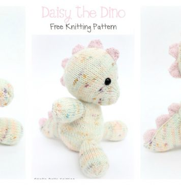 Daisy the Baby Dino Amigurumi Free Knitting Pattern