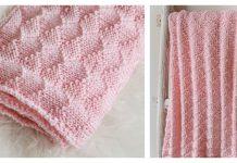 Diamonds and Purls Baby Blanket Free Knitting Pattern