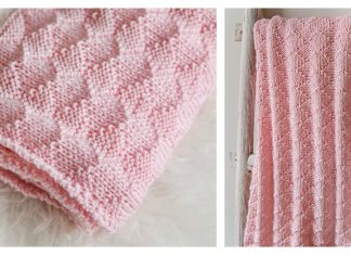 Diamonds and Purls Baby Blanket Free Knitting Pattern