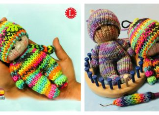 How to Loom Knitting Tiny Doll Toy