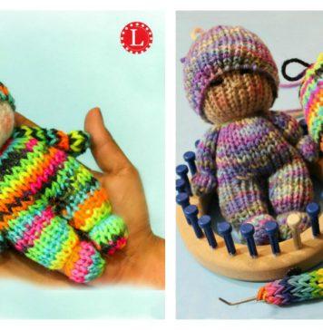 How to Loom Knitting Tiny Doll Toy