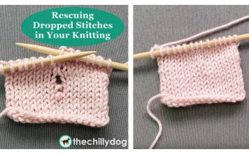 How to Pick Up a Dropped Stitch Knitting Tutorial