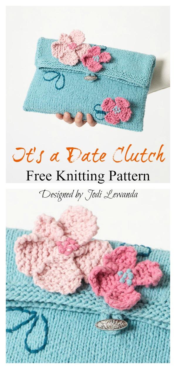 It's a Date Clutch Free Knitting Pattern