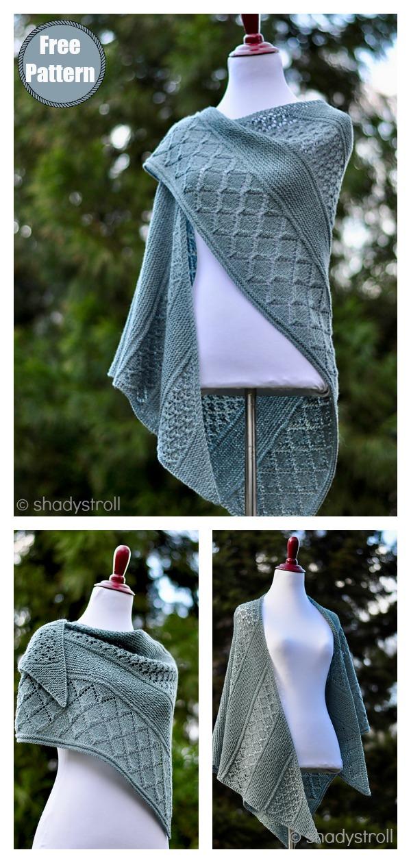 Lattice Sampler Shawl Free Knitting Pattern