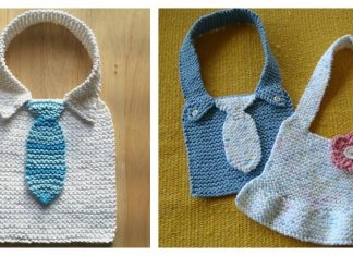 Manly Baby Bib Free Knitting Pattern