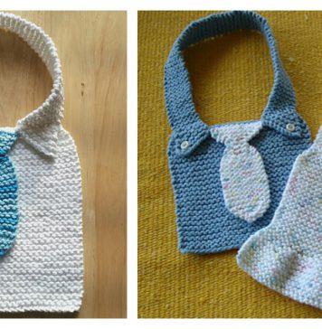 Manly Baby Bib Free Knitting Pattern