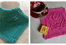 Margaret Tulip Dishcloth Block Free Knitting Pattern