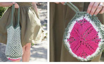 Melon Pocket Bag Free Knitting Pattern