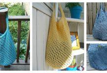 Open Weave Market Bag Free Knitting Pattern f