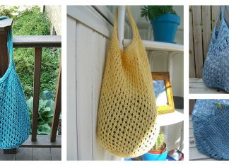Open Weave Market Bag Free Knitting Pattern f