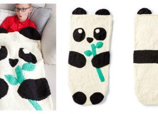 Panda Bear Snuggle Sack Free Knitting Pattern