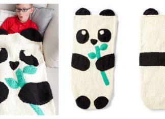 Panda Bear Snuggle Sack Free Knitting Pattern