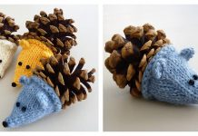 Pine Cone Hedgehog Free Knitting Pattern