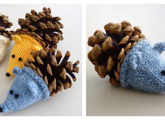 Pine Cone Hedgehog Free Knitting Pattern
