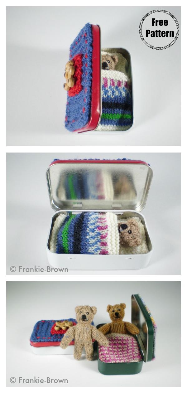 Pocket Ted Bear Free Knitting Pattern