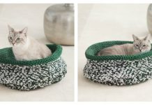 Simple Cat Bed Free Knitting Pattern