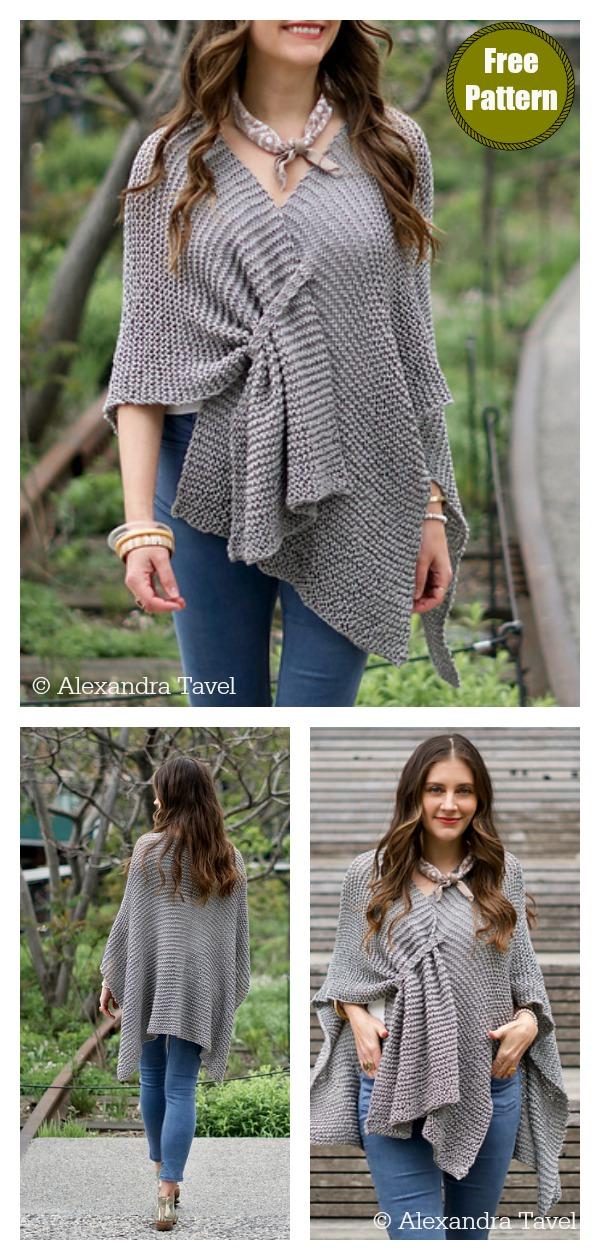 Stone Ridge Ruana Wrap Free Knitting Pattern