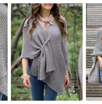 Stone Ridge Ruana Wrap Free Knitting Pattern