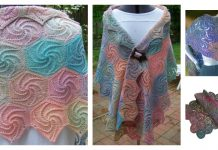 Swirl Hexagons Shawl Knitting Pattern and Video Tutorial