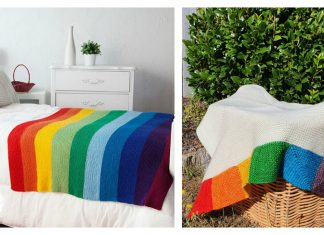 The Rainbow Blanket Free Knitting Pattern
