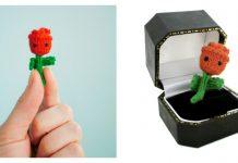 Tiny Rose Free Knitting Pattern