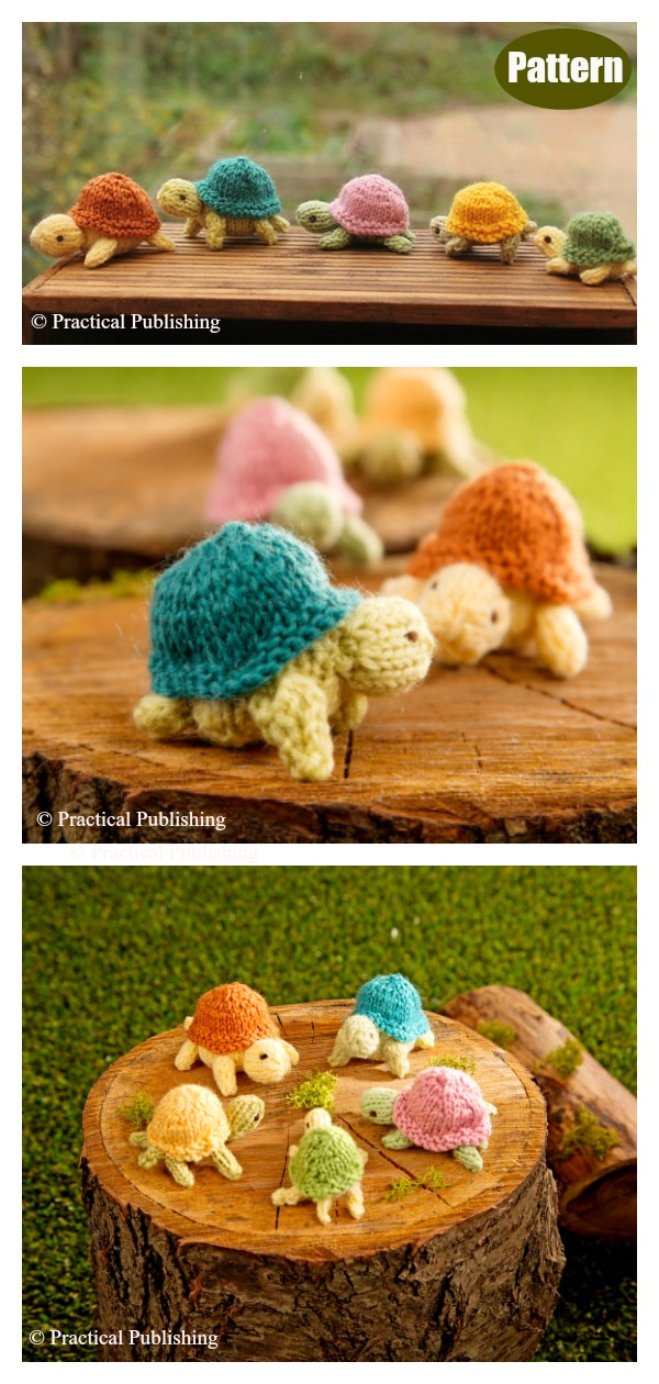 Turtle Family Knitting Pattern