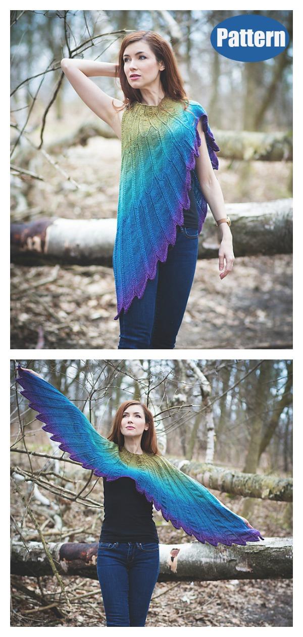 Wingspan Shawl Knitting Pattern