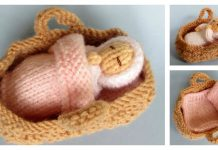 Baby in a Basket Crib Free Knitting Pattern