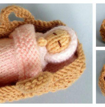 Baby in a Basket Crib Free Knitting Pattern