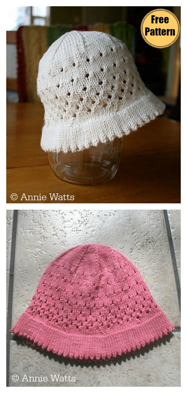 Bucket Style Sunhat Free Knitting Pattern