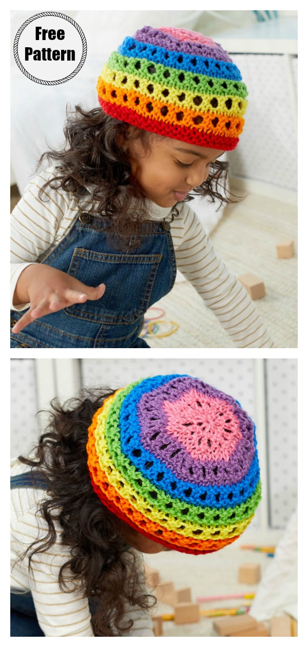 Color for Everyone Hat Free Knitting Pattern
