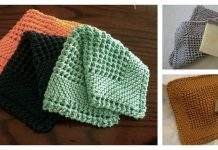 Diagonal Dishcloth Free Knitting Pattern