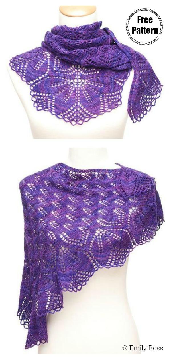 Haruni Lace Shawl Free Knitting Pattern