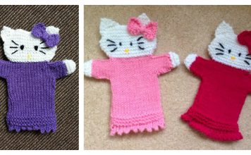 Hello Kitty Hand Puppet Free Knitting Pattern