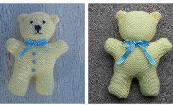 Little Teddy Bear Free Knitting Pattern