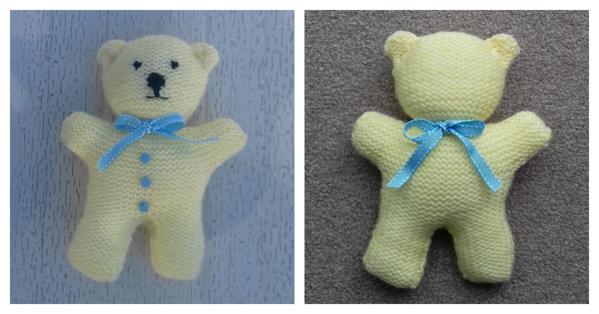 Little Teddy Bear Free Knitting Pattern