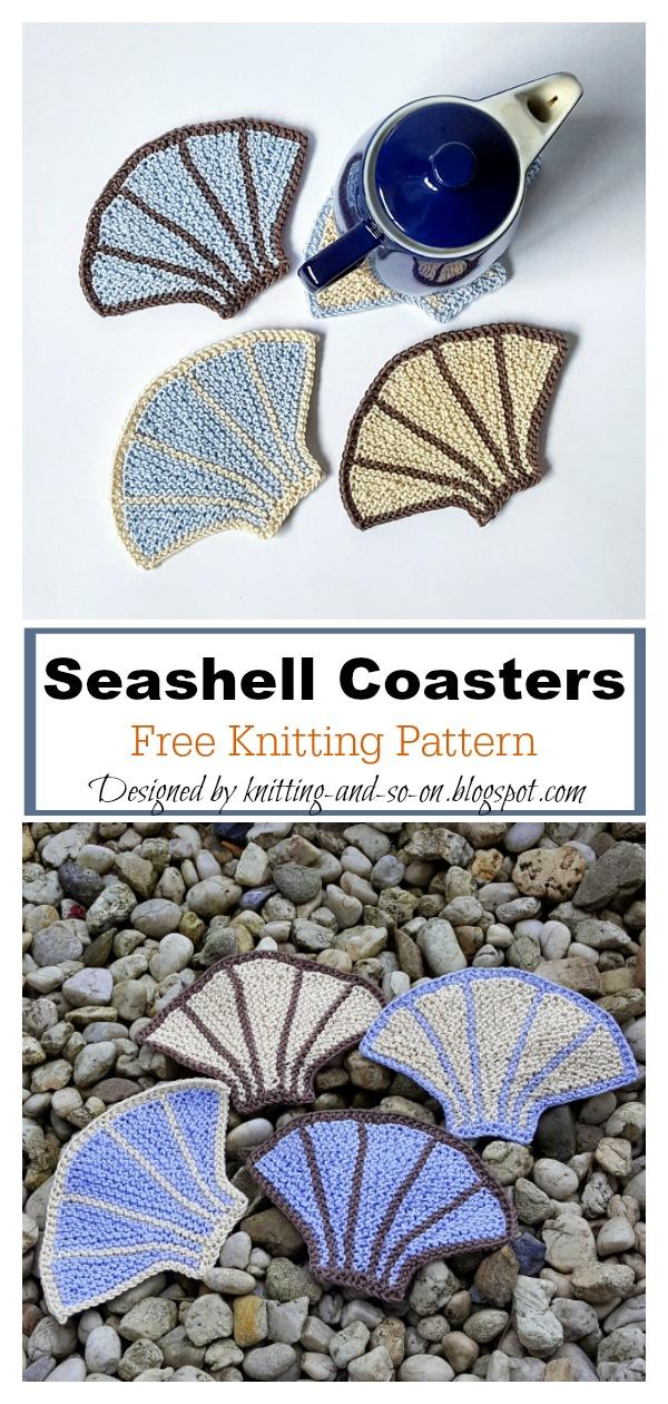 Seashell Coasters Free Knitting Pattern