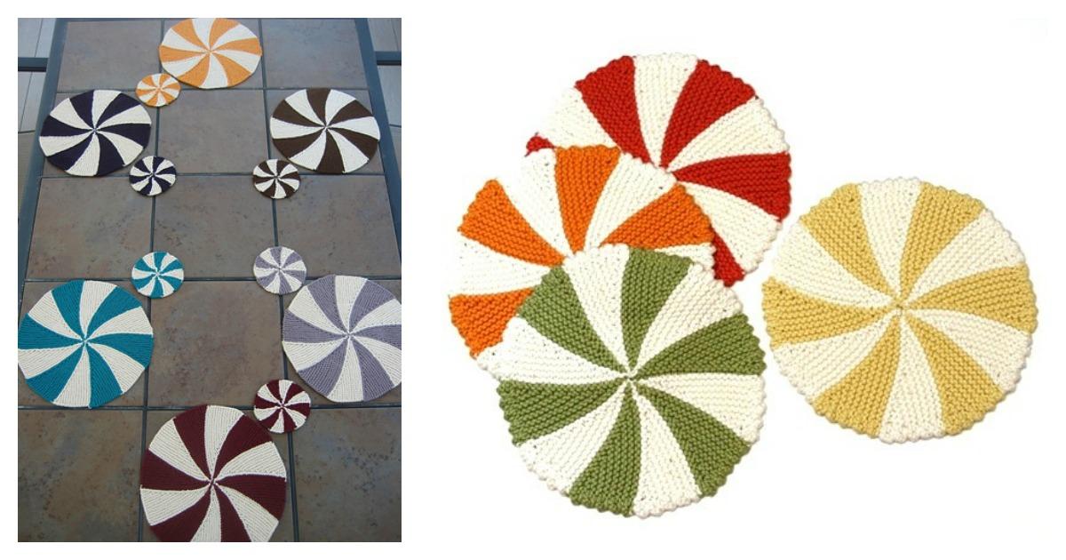 Pinwheel Dishcloth Free Knitting Pattern