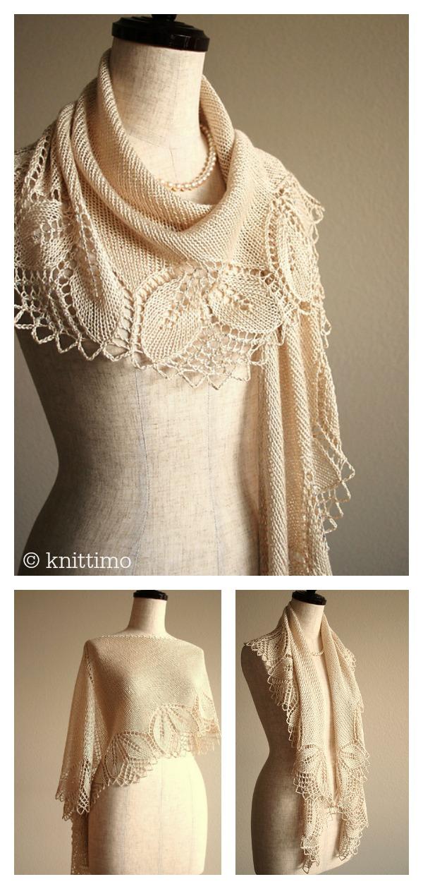 Silken Haruni Lace Shawl Free Knitting Pattern