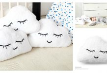 Sleepy Cloud Emoji Pillow Free Knitting Pattern