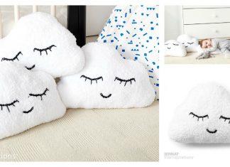 Sleepy Cloud Emoji Pillow Free Knitting Pattern