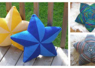 Star Shaped Pillow Free Knitting Pattern