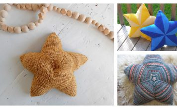 Star Shaped Pillow Free Knitting Pattern