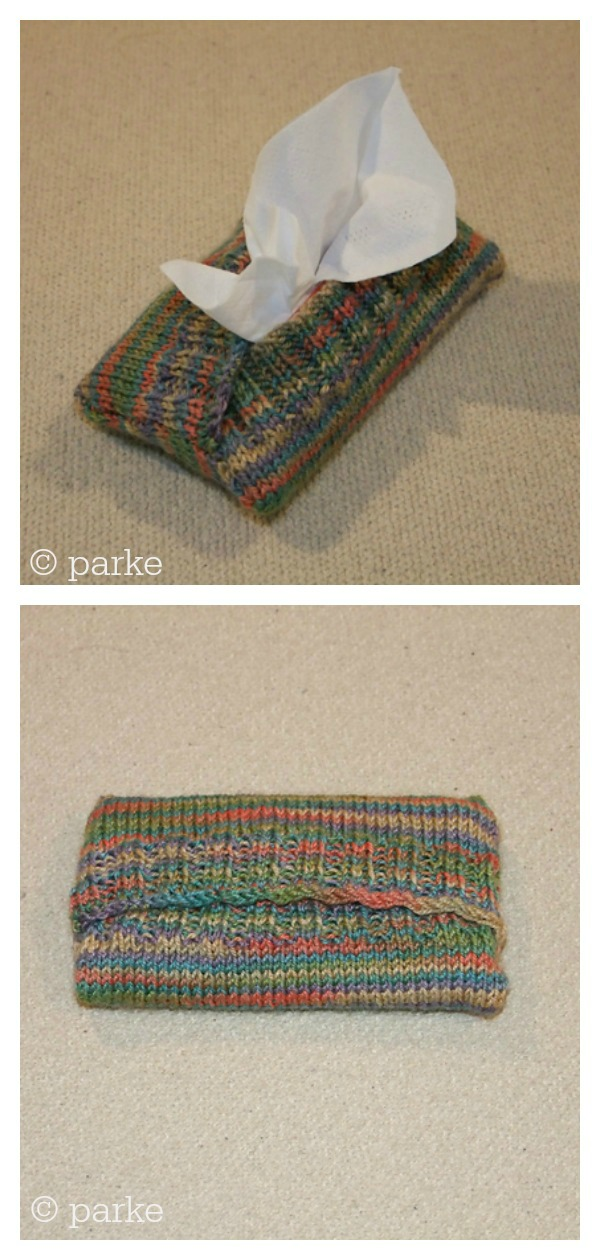 Sweaters for Purse Size Tissue Packets Free Knitting Pattern
