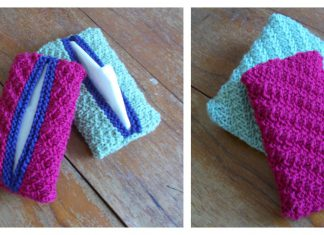 Travel Pocket Tissue Holder Free Knitting Pattern