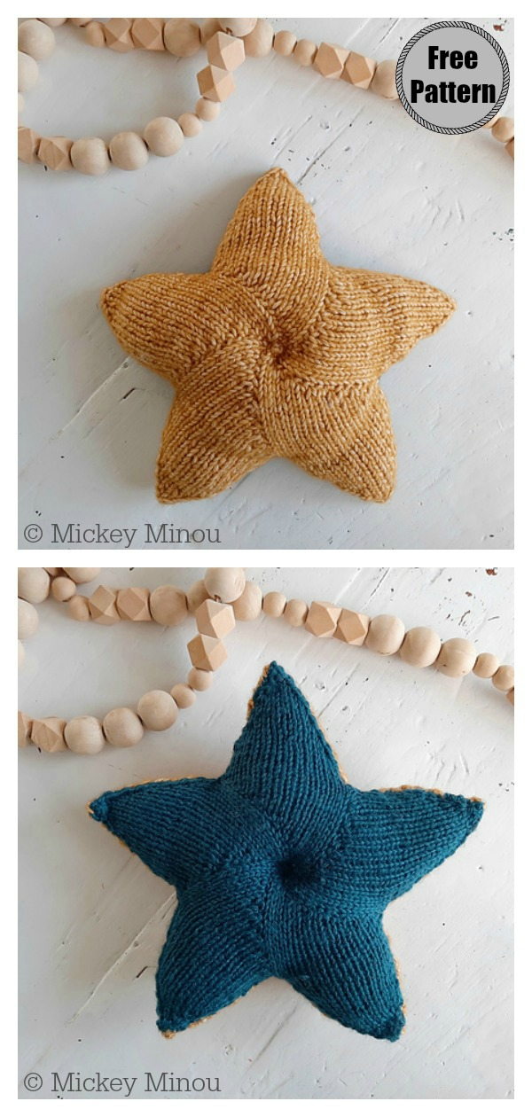 Twinkle Star Pillow Free Knitting Pattern