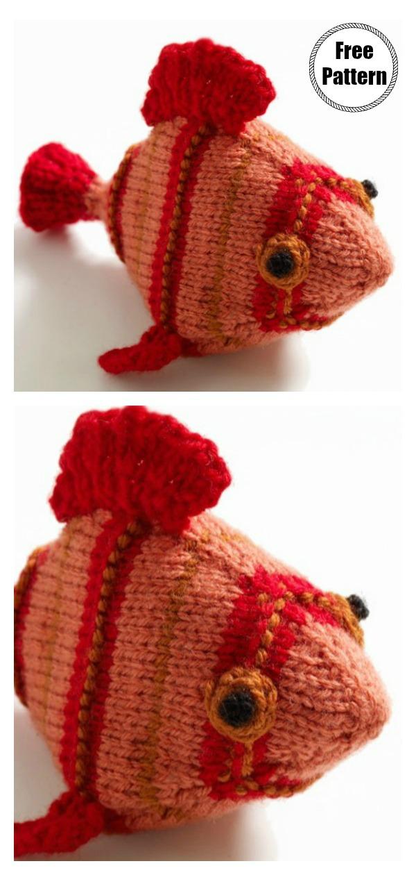 Amigurumi Frida the Fish Softie Free Knitting Pattern