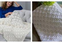Diamond Lace Blanket Free Knitting Pattern